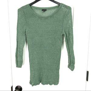 Talbots medium linen lightweight open knit sweater